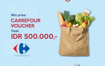 Giveaway Voucher Carrefour Senilai Total Rp 500.000!