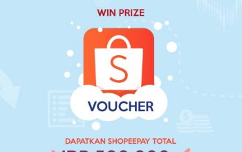 Giveaway ShopeePay Senilai Total Rp 500.000!
